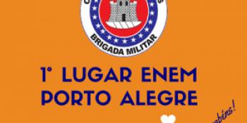 Primeira colocada no Enem por escola em Porto Alegre realiza concurso neste domingo.
