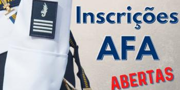 Inscrições abertas - AFA